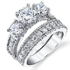 cubic zirconia engagement rings white gold wedding rings cubic zirconia wedding bands white gold target