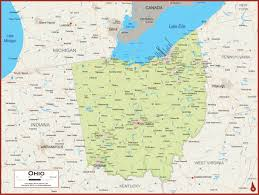 State Of Ohio Map by Ohio Physical State Map