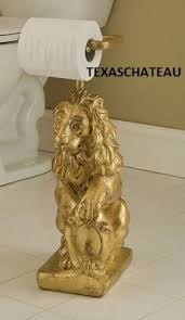 gold lion statue world ornate gold lion standing toilet paper holder stand