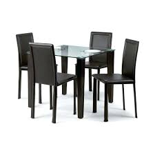 black leather dining chairs set of 4 glass table with shaker eydon