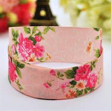 printed ribbons 2017 50yards 22mm floral pink grosgrain ribbon handmade single