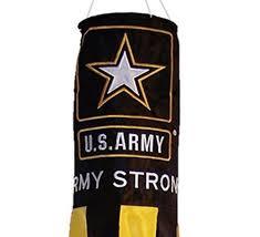 Patriotic Garden Decor Us Army Strong Wind Sock Garden Flag Outdoor Decor Spinner