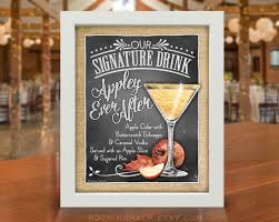 fall autumn wedding decoration signature drink sign as is
