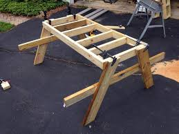 knock down picnic table plans how to build a picnic table in just one day simple diy tutorial