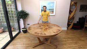 expanding circular dining table expanding circular dining table in pippy oak youtube