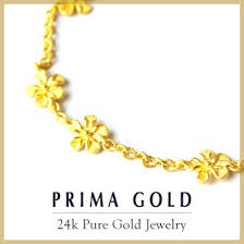 gold bracelet woman images Prima gold japan pure gold bracelet for the woman flower jpg