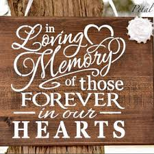 in loving memory wedding sign best wedding memorials for loved ones products on wanelo