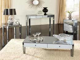 Coffee Table Set Elliott Mirrored Coffee Table Mirrored Coffee Table Set Furniture