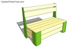 Bench Construction Plans Lapes Garden Bench Project Plans Must See