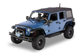 jeep wrangler top view rugged ridge 11651 17 black diamond plate hood stone guard side