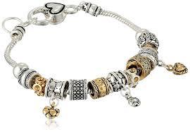 pandora jewelry amazon com heart line charm bracelet 8
