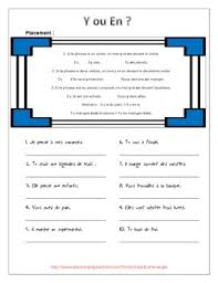 2 worksheets with a basic explanation of where to place y and en