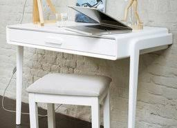 mini bureau ordinateur petit bureau blanc petit bureau studio laqu blanc brillant pieds