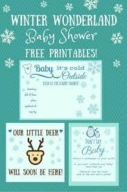 Winter Wonderland Baby Shower Free Winter Wonderland Baby Shower Printables