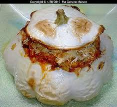 cuisiner du patisson pâtisson farci vegetarien recette maison ma cuisine maison