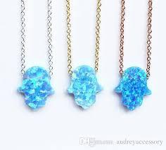 opal earrings necklace images Wholesale hamsa necklace opal hamsa necklace layering hamsa hand jpg