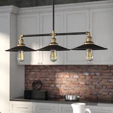lighting for kitchen islands 17 stories caulfield 3 light kitchen island light reviews wayfair