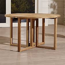 round drop leaf dining table drop leaf dining tables crate and barrel