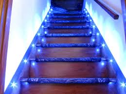 image of combination stair lighting with types steps