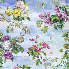 Flower Wallpaper Home Decor Caprifoglio Sky Wallpaper Designers Guild Wallpaper Wow