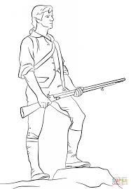 minutemen america war coloring page history free download