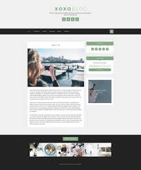 xoxo blog psd template by dannywp themeforest