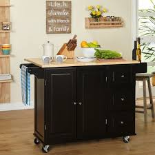 Aspen Kitchen Island Aspen 3 Drawer Cabinet Spice Rack Drop Rolling Kitchen Island