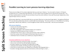 teacher objectives for resumes my learning journey split screen teaching my learning journey