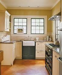 cottage kitchen curtains brown wooden floor traditional style