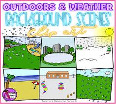 outdoor background scenes u0026 changeable weather clip art