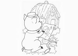 pigs house plan coloring pages free coloring