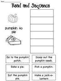 sequencing thanksgiving worksheets festival collections