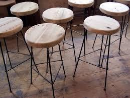 Reclaimed Wood Bar Stool Furniture Engaging Reclaimed Wood Bar Stools With Metal Legs By