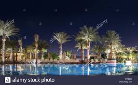 Pool At Night Resort And Luxury Getaway Hotel View Of Water Swimming Pool At