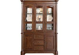 rooms to go curio cabinets shop for a walnut place 2 pc china cabinet at rooms to go find