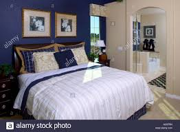 middle class home interior master bedroom denver colorado stock middle class home interior master bedroom denver colorado