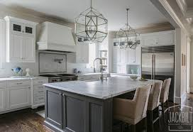 gray kitchen island white and gray kitchen designed by jackbilt homes home bunch