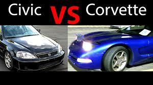 2000 corvette quarter mile civic vs corvette ek hondan k24 na 1 4 mile drag race with v8