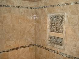 Bathroom Border Ideas Porcelain Tile Shower With Glass And Slate Borders And Niche New