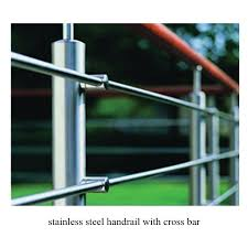 Stainless Steel Stair Handrails Stair Corss Bar Handrail Stainless Steel Handrail With Cross Bar