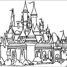 Disney Castle Coloring Page Simple Coloring Disney Castle Coloring Coloring Pages Castles