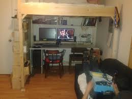 Diy Bed Desk Fantastic White Loft Desk Combo With Storage Ladder