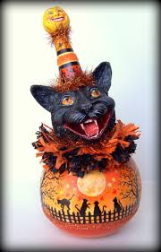 145 best vintage halloween decorations images on pinterest