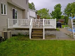 Patio Handrails by How To Build Deck Stairs Success Concrete Patio Railings