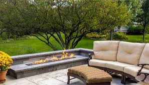 Comfortable Home Decor Decor Best Outdoor Patio Ideas With Winsome Unilock Fireplace