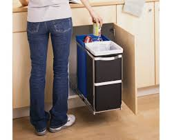 garbage can under the sink decoration in cabinet trash can with lid small pull out trash can