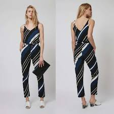 topshop jumpsuit 56 topshop topshop diagonal stripe jumpsuit from