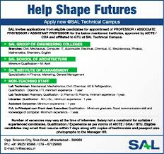 sample resume for experienced assistant professor in engineering college jobs in sal technical campus vacancies in sal technical campus paperthumb associate professor