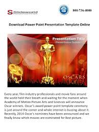 download oscar award power point template online