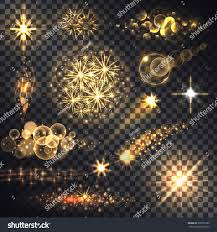 and glow set glows bright light fireworks stock vector 536337286